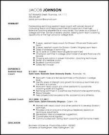 sport coach resume templates free professional sports coach resume template resumenow