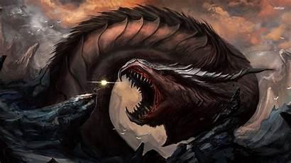 Dragon Fighting Sorcerer Wallpapers Fantasy Battle Background
