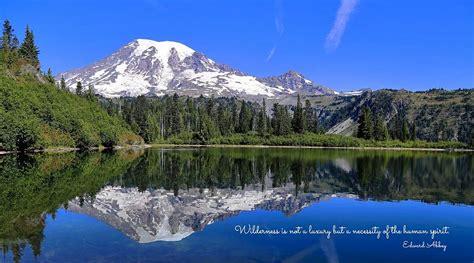hopwood lynn wilderness luxury photograph lake mt snow rainier 1st august which uploaded