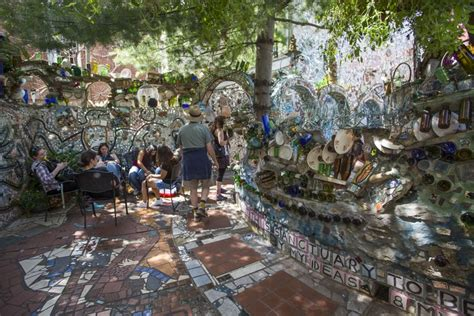 spend happy hour  philadelphias magic gardens