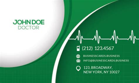 medical business card psd template business cards