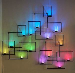 10 creative led lights decorating ideas hative With led wall art