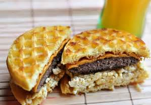 Waffle Sausage and Egg Breakfast