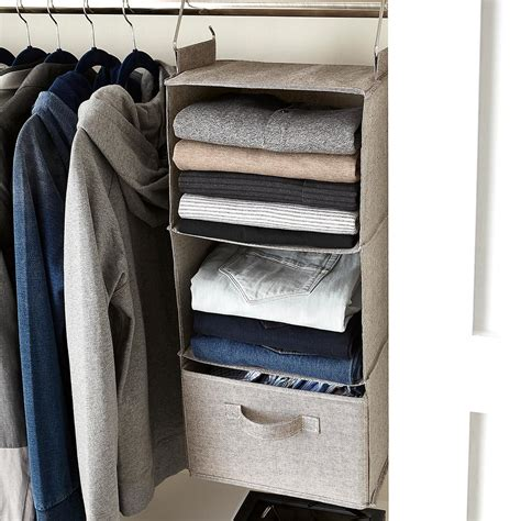Grey 3compartment Hanging Sweater Organizer The