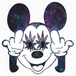 Mickey Mouse Cartoon Characters Smoking Weed