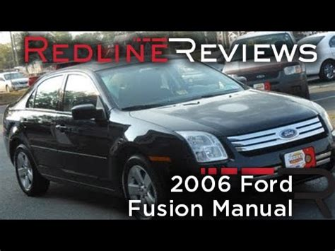 free car repair manuals 2006 ford fusion spare parts catalogs 2006 ford fusion manual review walkaround start up test drive youtube