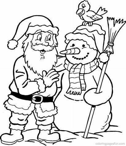 Santa Coloring Pages Frosty