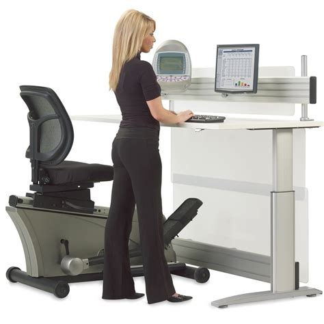 what is desk height elliptical machine adjustable height desk the green head