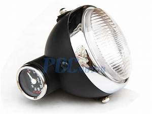 Honda Monkey Z50 Z50j Headlight Light W   Speedometer Front Black Lt35