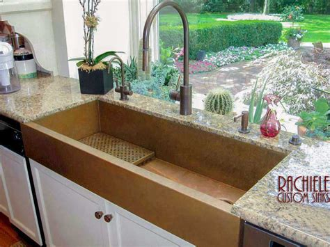 48 inch kitchen sink hundreds of photos of copper sinks installed in kitchens 3918
