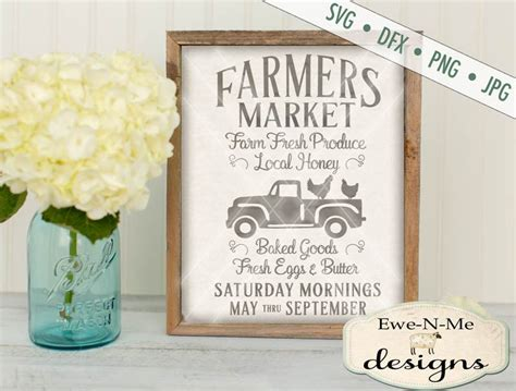 farmers market svg kitchen svg farmhouse svg  truck  chickens svg fresh produce