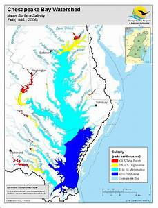 A Map Showing The 4 Major Salinity Zones Of The Chesapeake