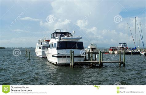 Moored Boats in Marina