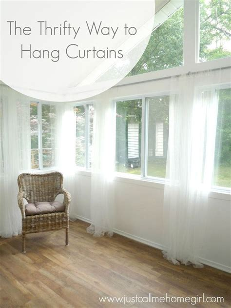 Hanging Sheer Curtains With Drapes - inexpensive way to hang curtains hometalk