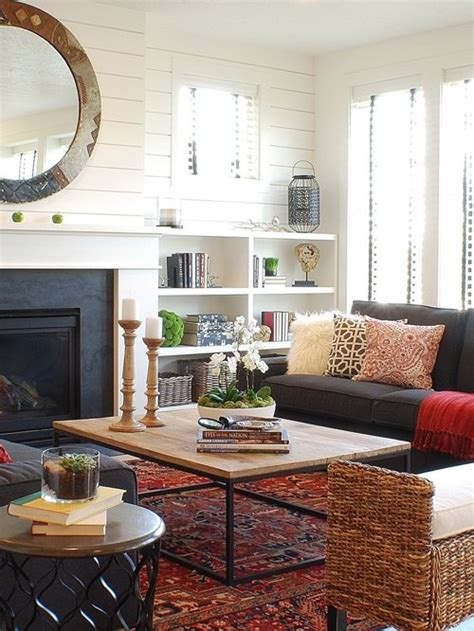 farmhouse living room design ideas remodels  houzz