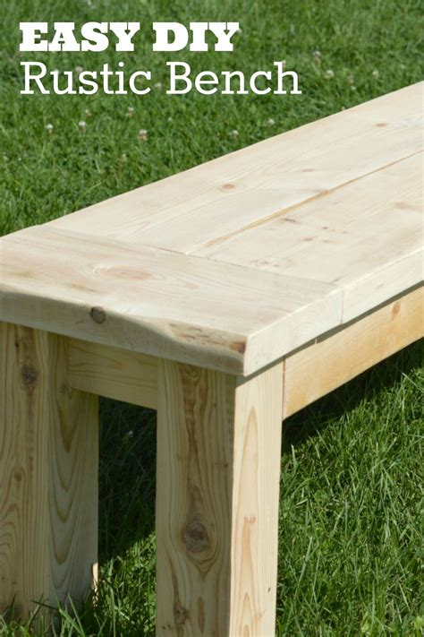 diy rustic bench click  picture  learn   build