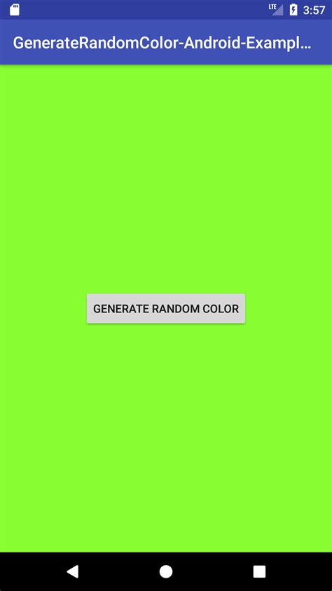 android button color android generate random color on button click