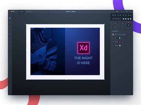 adobe xd dark theme redesign  gridpen  dribbble