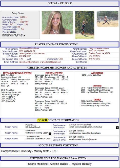 Athletic Resume Template athletic resume template free resume format templates