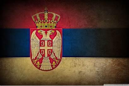 Serbia Flag Wallpapers Serbian Grunge Background 4k