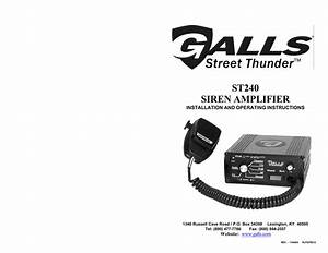 Galls Street Thunder Slimline Wiring Diagram