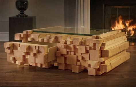Der Couchtisch Aus Holzunique Stacked Wood Coffee Table Apartment Singel Interior by Wood Stacked Tables Log Pile Coffee Table