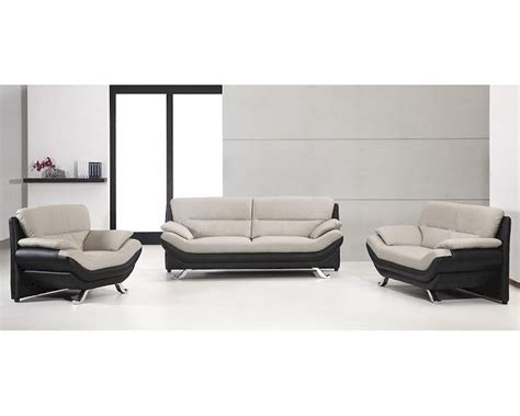 leather look sofa set grey and black bonded leather sofa set in contemporary