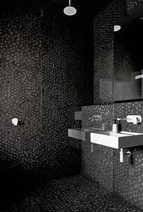 salle de bain avec mosaique noire With salle de bain mosaique noir
