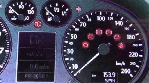 Audi A3 8p Dashboard Warning Lights & Symbols What They