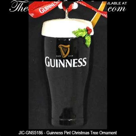 guinness pint christmas ornament with holly