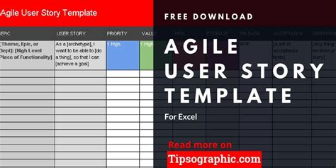 agile user story template  excel