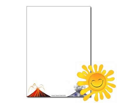 library  volcano border graphic black  white png