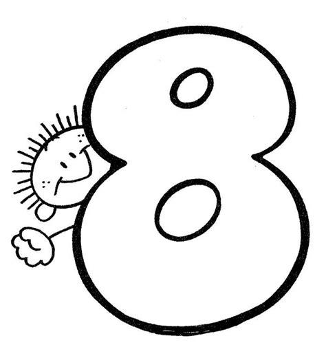 Numero 8 Numero para colorear Material didactico para