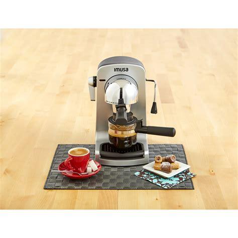 In addition to lattes, americanos. IMUSA IMUSA Electric Bistro Espresso/Cappuccino Maker 4 Cup 800 Watts, Grey - IMUSA