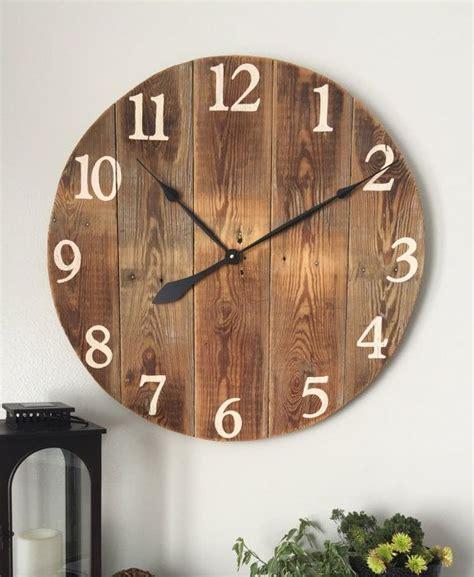 ideas  rustic wall clocks  pinterest