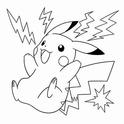 Coloring Pokemon Pages Template Templates Pickachu Colouring