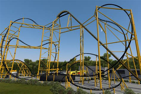 steelers themed roller coaster close  completion