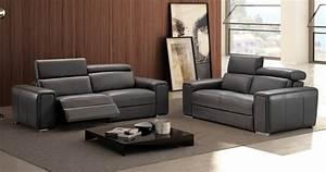 Dodge relaxation electrique ou fixe en cuir epais 2mm for Canapé 3 places pour décoration de salon contemporain