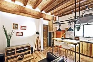 Appartement design deco contemporaine style industriel for Deco contemporaine bois