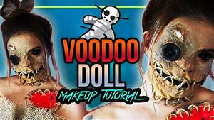 Halloween Make Up Puppe : voodoo doll halloween makeup tutorial voodoo puppe spooktober youtube ~ Frokenaadalensverden.com Haus und Dekorationen