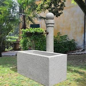stilvoller steinbrunnen aversa o gartentraumde With französischer balkon mit garten steinbrunnen