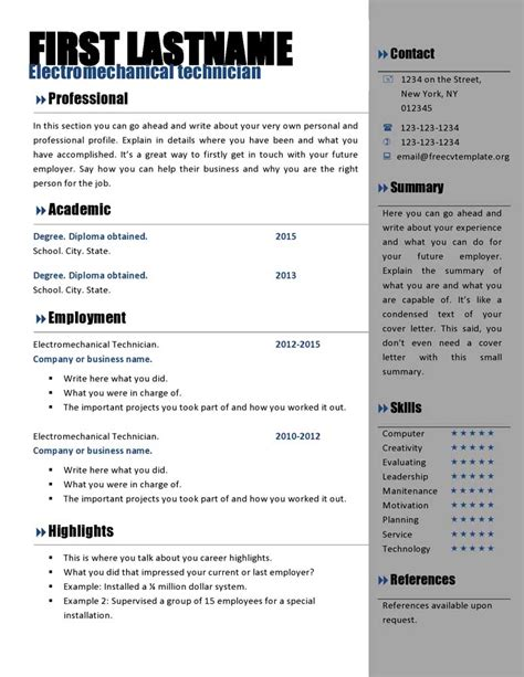 free template for resumes to download free curriculum vitae templates 466 to 472 free cv