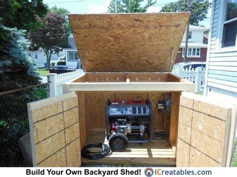 pictures  generator sheds   generator sheds