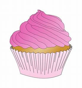 Clipart - Pink Cupcake