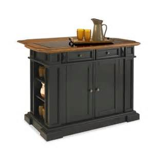 Home Depot Kitchen Islands Home Styles Deluxe Traditions Kitchen Island In Black With Oak Top And Black Granite Inlay