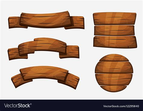 wooden board wooden plank signs wood royalty free vector