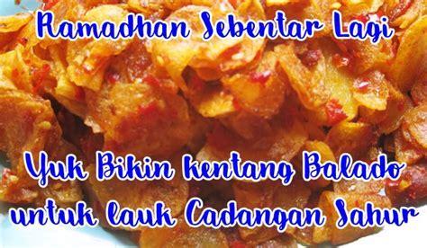 resep kentang balado sambal merah pedas  kering  renyah