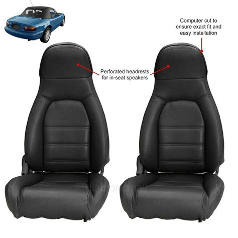 Miata Seat Upholstery Kit by Mazda Miata Seat Covers Fits 1990 1996 Pair Of Black