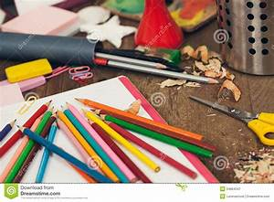 Messy Student's Desk Royalty Free Stock Photography ...