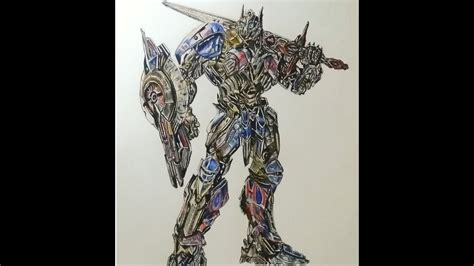 optimus prime   knight speed drawing mahnoor